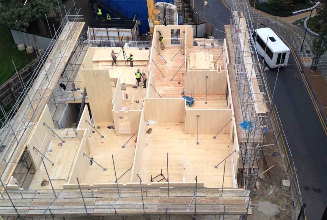 Woodberry Down Cross-Laminated Timber Timelapse Video 1
